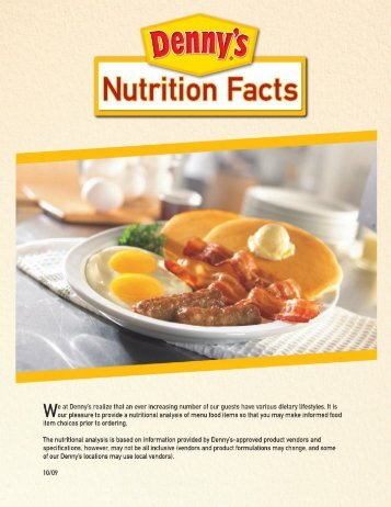 Denny's Nutrition (Oct 09) - D-Mom Blog
