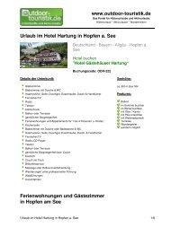 Urlaub im Hotel Hartung in Hopfen a. See - Outdoor-Touristik