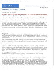 Statement To the Fifty-Eighth Regular Session of the United Nations ...