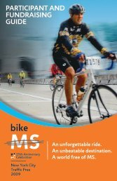 participant and fundraising guide - Bike MS - National Multiple ...