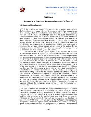CAPÍTULO X § 1. Concreción del cargo. - SPIJ