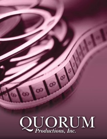 Download our Brochure in PDF - Quorum Productions