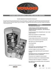 voyager high efficiency gas fired water heaters - Heat Transfer ...