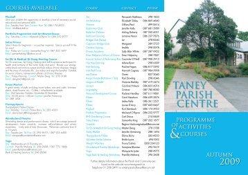 TANEY PARISH CENTRE - Taney Parish website