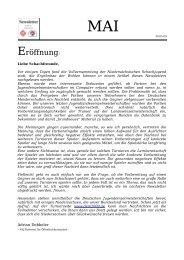 NSV/NSJ Newsletter im Mai 2009