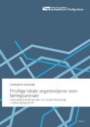 Frivillige lokale organisasjoner som læringsarenaer - Senter for ...