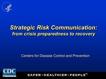 Strategic Risk Communication