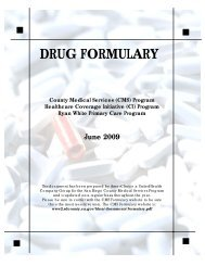 San Diego County Medical Services Drug Formulary