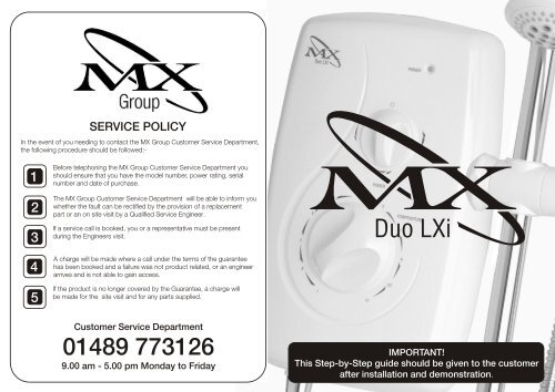 MX Duo LXI Installation Guide - Advancedwater co uk
