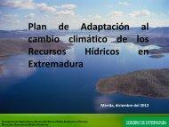Planes de Adaptación de Recursos HÍDRICOS. - Altercexa
