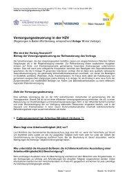 Versorgungssteuerung in der HZV - MEDI Verbund Baden ...