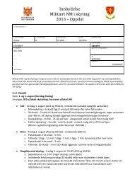 Innbydelse Militært NM i skyting 2013 – Oppdal - NROF