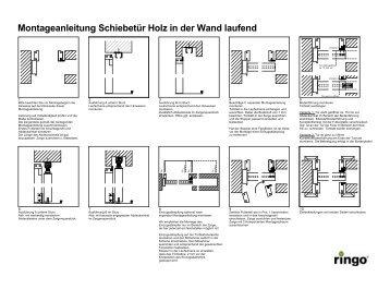 schiebet r in der wand laufend montage bei geschlossener. Black Bedroom Furniture Sets. Home Design Ideas