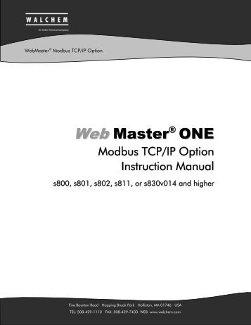 Modbus TCP/IP Manual