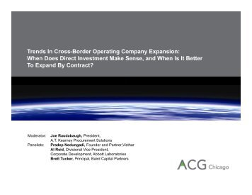 Trends In Cross-Border Operating Company ... - ACG Chicago
