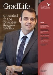 grounded in the business - University of Western Sydney