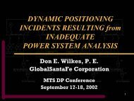 DYNAMIC POSITIONING INCIDENTS RESULTING from ...