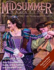 Midsummer Magazine 2013 - Utah Shakespearean Festival