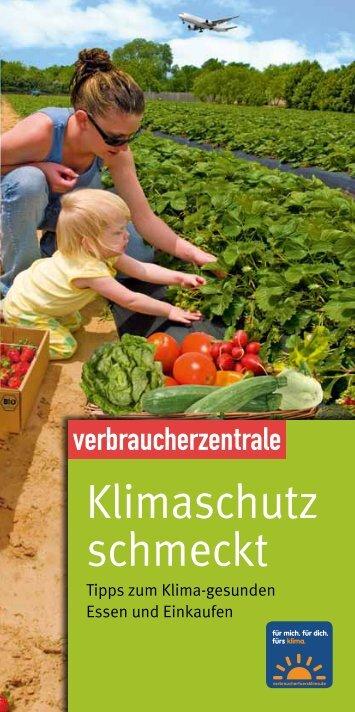 """Flyer """"Klimaschutz schmeckt"""" - verbraucherfuersklima.de"""