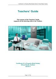 Teacher's Guide for Real Estate - Flexible Learning Toolboxes