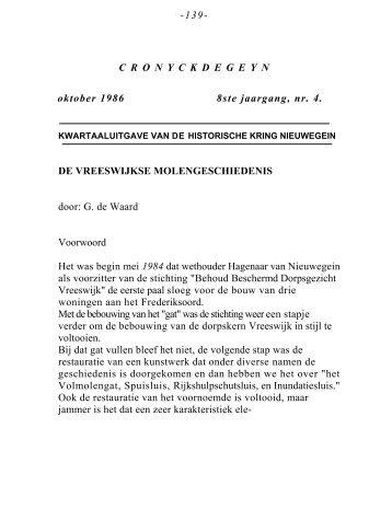 De Vreeswijkse molengeschiedenis - Museum Warsenhoeck