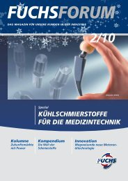 fuchsforum - Fuchs Europe Schmierstoffe GmbH