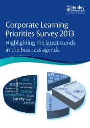 Corporate Learning Survery 2013.indd - Henley Business School