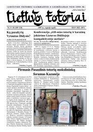 Lietuvos totoriai Nr. 109-110 - Tautinių bendrijų namai