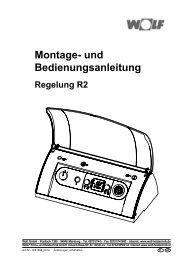 Montage- und Bedienungsanleitung - Wolf