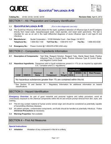 influenza a+b - Quidel Corporation