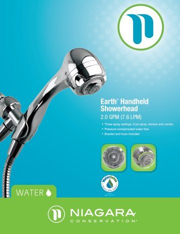 Earth® Handheld Showerhead - Niagara Conservation