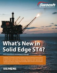 What's New in Solid Edge ST4? - Swoosh Technologies