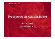 Procedures en kwaliteitsbeleid - NIFV