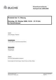 Protokoll der 13. Sitzung Dienstag, 20. Oktober ... - Gemeinde Buchs