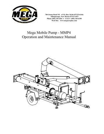 Mega Mobile Pump - MMP4 Operation and ... - Mega Corporation