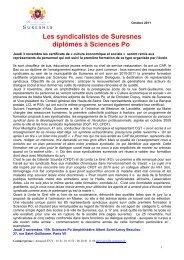 Les syndicalistes de Suresnes diplômés à Sciences-Po (pdf - 89,63 ...