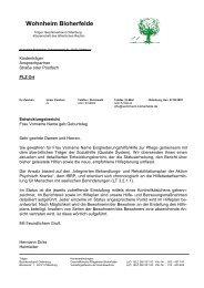 Wohnheim Bloherfelde - Bezirksverband Oldenburg