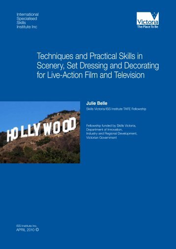 Techniques and Practical Skills in Scenery, Set Dressing and ...