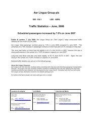 Traffic Statistics – June, 2008 - Aer Lingus