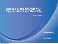 Release of the ENDF/B-VII.1 Evaluated Nuclear Data File