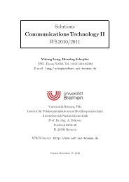 Solutions Communications Technology II WS 2010/2011