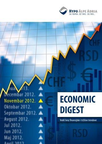Economic Digest - Novembar 2012 - Hypo Alpe-Adria