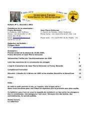 Bulletin n°1 de la Commission de plongée