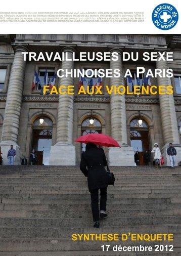 Travailleuses du sexe chinoises a paris face aux violences