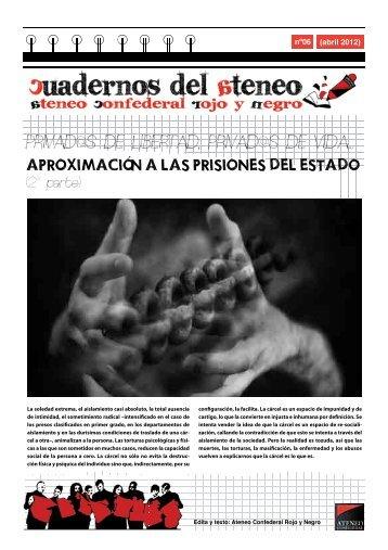 APROXIMACIÓN A LAS PRISIONES DEL ESTADO - Rojo y Negro