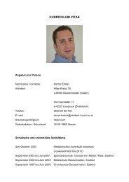Lebenslauf und seine Bewerbung als PDF - AGA