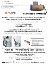 Info / Tarief - Les Professions Esthétiques