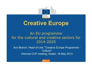 Creative Europe - Kultura 2007