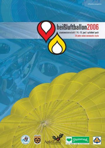 offizielles programm - Ballonclub Sportunion Aeronautic Styria Puch
