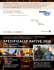 SPECIFICALLY NATIVE 2010 - Kinetic Video
